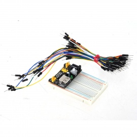 400-Hole Mini Breadboard + Power Supply Module + 65 Jump Wires Kit