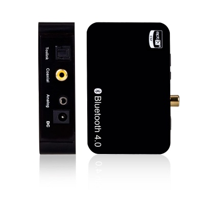 Wireless Bluetooth Music Receiver Adapter w/ Digital Optical - Black