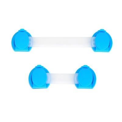 Baby Infant Child Multi-Function Rotatable Drawer Safety Locks - Blue + Translucent White