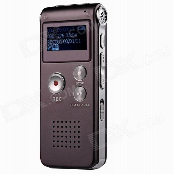 CM112 Rechargeable Digital Voice Recorder MP3 Player - Wine Red (8GB)