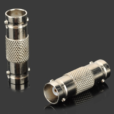 Q9 Connector BNC Female to Female Converters Adapters - Silver (2 PCS)