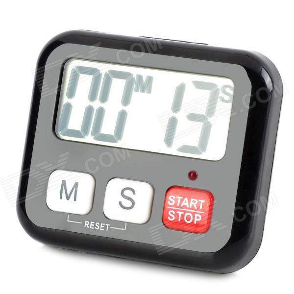 "BK-029 2"" Big Screen Digital Timer for Daily Use - Black (1*AAA)"