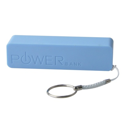 Portable 1500mAh Mobile Power Bank w/ Hanging Ring / Charging Cable - Blue