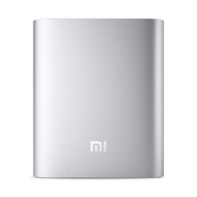 XIAOMI 10400mAh USB Mobile Power Bank w/ 4-LED Indicator -Silver+White