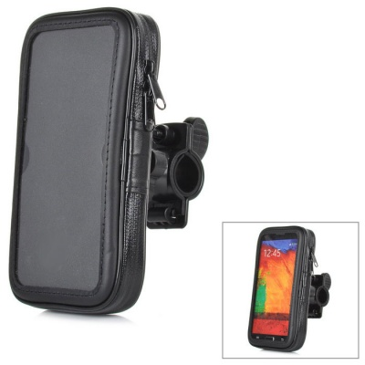Universal Portable Water Resistant PVC + Plastic Bike Bag for Samsung S5 / HTC One M7 - Black