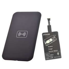 Positive QI Wireless Charger Pad + Wireless Charger Receiver - Black