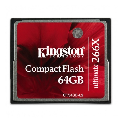Kingston CF/64GB-U2 64GB Ultimate 266x CompactFlash Memory Card