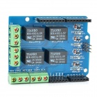 Relay Shield v1.0 5V 4-Channel Relay Module for Arduino (Works with official Arduino Boards)