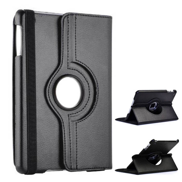Protective PU Leather 360 Degree Rotation Case for IPAD 2 / 3 / 4 - Black