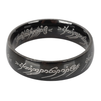 Ring-to-rule-them-all 316L Stainless Steel Ring - Black (US Size 11)