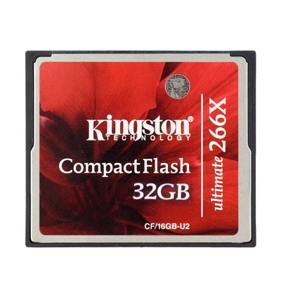 Kingston CF/32GB-U2 Ultimate Compact Flash Memory Card-Red