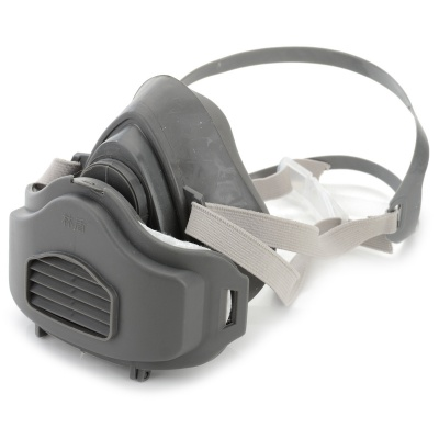 Silicone + ABS Dust Filter Respirator Mask - Dark Grey