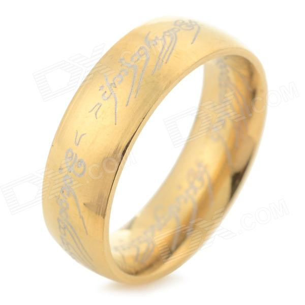 Fashion 316L Stainless Steel Ring - Golden (US Size 7.5)