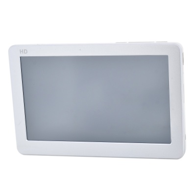 4.3'' HD Touch Screen MP5 Player w/ FM - White + Silver (8GB)