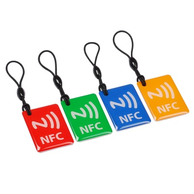 NXP Ntag203 144 Bytes 13.56MHz NFC Tags - Red + Multicolor (4PCS)