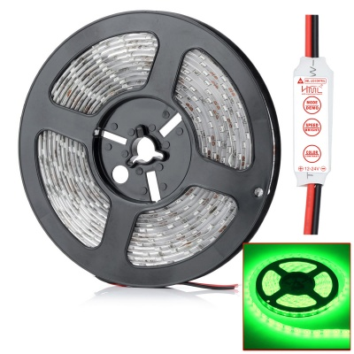HML N56 Waterproof 72W 5000lm 530nm 300-SMD 5630 LED Green Light Strip - Translucent (5M / DC12V)