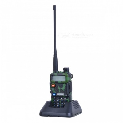 "BAOFENG UV-5R 1.5"" Dual Band 128-CH Walkie Talkie w/Torch - Camouflage"