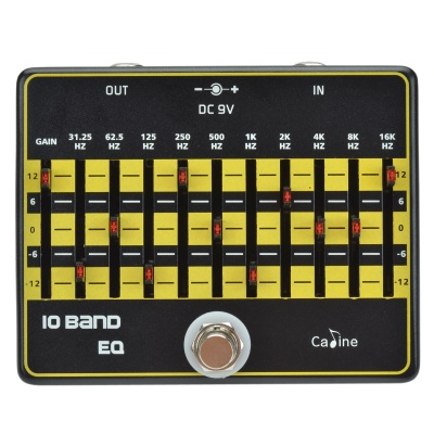 Caline CP-24 10 Band Equalizer Effect Pedal for Electric Guitar - Black