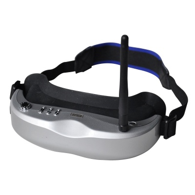 Boscam GS920 640 x 480 RGB AIO Wireless FPV Goggles w/ Head Tracker w/ Dual RX - Silver + Black