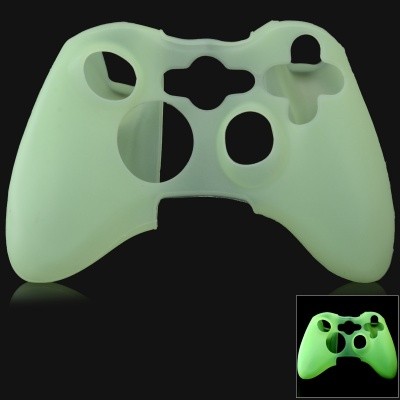 Glow-in-the-Dark Protective Silicone Case for XBOX 360 / XBOX 360 Slim Controller - Green