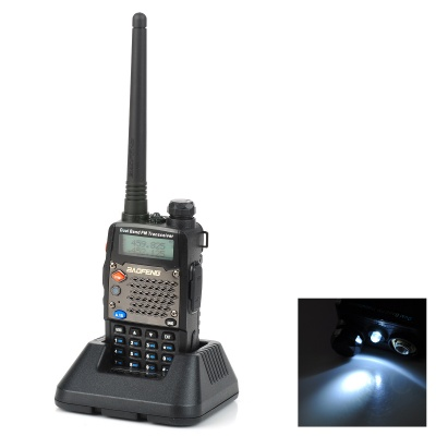 "BAOFENG UV-5D 1.5"" LCD 5W 136~174MHz / 400~520MHz Dual Band Walkie Talkie w/ 1-LED Flashlight"