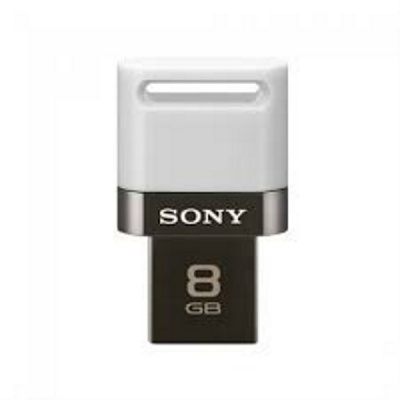 Sony USM8SA1/W 8GB Microvault USB Flash Drive for Smartphone - White + Grey