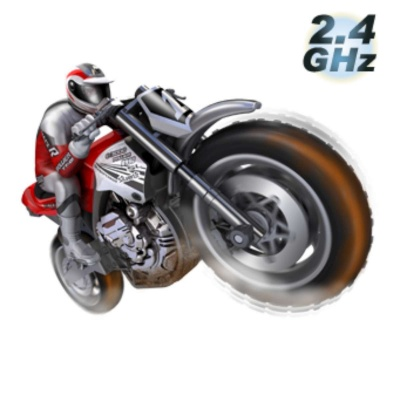 Genuine Silverlit SL82414 2.4G Gyro Buzz Motor Bike Toy - Red