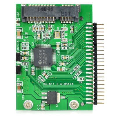 "mSATA PCI-E to 2.5"" IDE / mSATA PCI-E SSD to 44-Pin 5V 2.5"" IDE Adapter Card - Green"