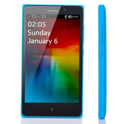 "Nokia XL Qualcomm Snapdragon S4 Dual-Core WCDMA Bar Phone w/ 5.0"" Screen, Wi-Fi and GPS - Blue"