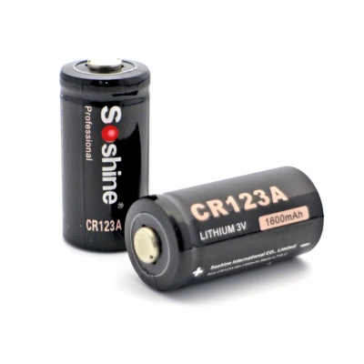 Soshine CR123A 3V Disposable Lithium Batteries (2 PCS)