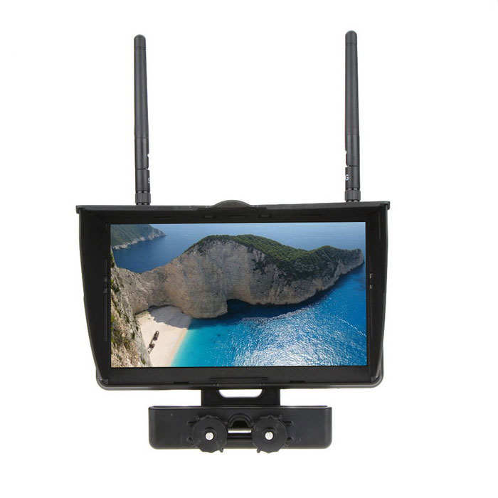 "Boscam Galaxy D2 FPV LCD RX-RD2 5.8G 7"" Display Dual Receiver Monitor"