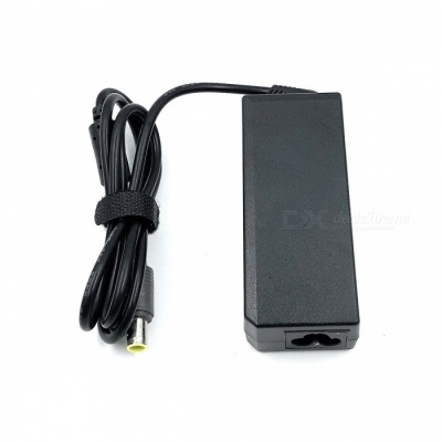 High-Quality 65W 20V 3.25A Power Adapter w/ AC Power Cable for Lenovo Laptops - Black (100~240V)