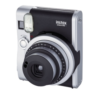 Genuine Fujifilm Instax Mini 90 Neo Classic Instant Film Camera - Black + Silver