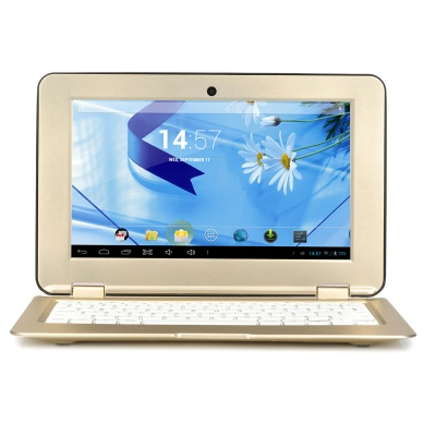 "SD1001 10.1"" Android 4.2 Dual-Core Netbook w / Wi-Fi / Camera / 1GB RAM / 8GB ROM / TF - Golden"