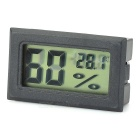 "1.5"" LCD Temperature / Humidity Measuring Thermometer / Hygrometer - Black (2 x LR44)"