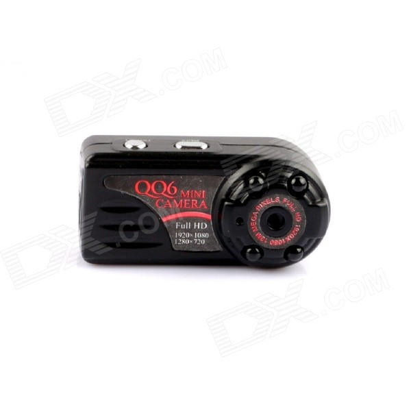 1080P 12MP Video Camera w/ Motion Detection, Night Vision - Black