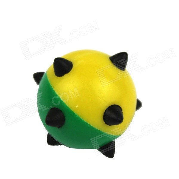 Sharp-Cornered Bead Shaped Rubber Tooth Cleaning Toy for Pet Cat / Dog - Green + Black
