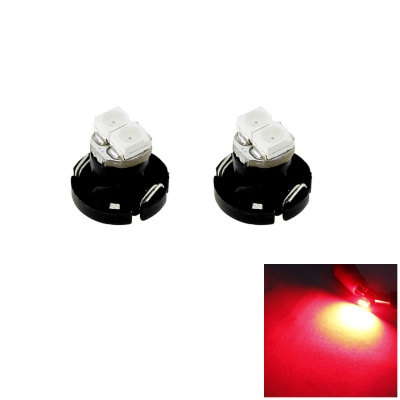 HONSCO T4.2 0.5W 20lm 2-SMD 3528 LED Red Light Car Dash Board Instrument Lamps (Pair / 12V)