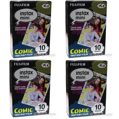 Genuine Fujifilm Instant Comic Version Film, 10 Sheets Per Box x 4 Box (Special Offer)