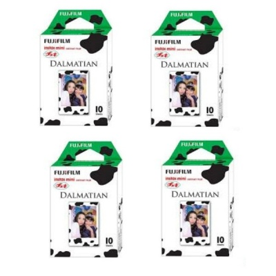 Genuine Fujifilm Instant Dalmatian Version Film, 10 Sheets Per Box x 4 Box (Special Offer)