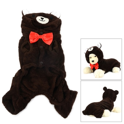 Halloween Panda Style Cotton Coat for Pet Cat / Dog - Deep Coffee (Size M)