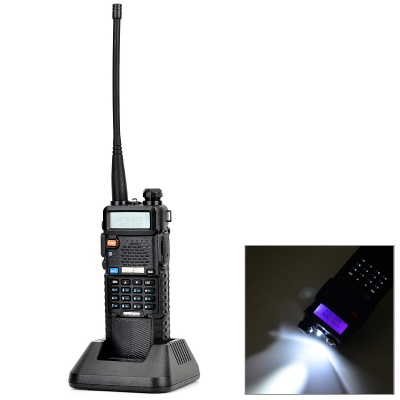 BaoFeng Lengthened 128-CH Walkie Talkie w/ 3800mAh Li-ion Battery - Black