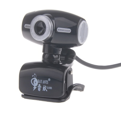 RAYANTS Q-355 8.0MP HD Webcam with Night Vision Light - Black