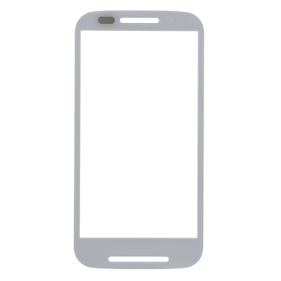 Replacement Tempered Glass + Plastic Screen Protector Panel Plate for Motorola MOTO E XT1021 - White