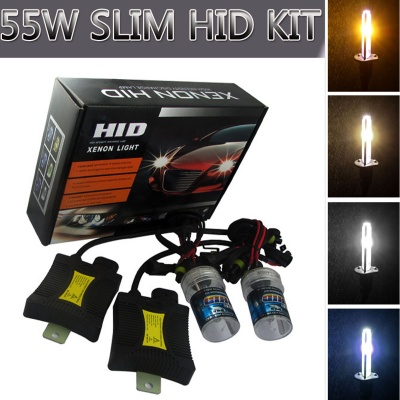H8 55W 3200lm 8000K Brilliant Blue Car HID Xenon Lamps w/ Ballasts Kit
