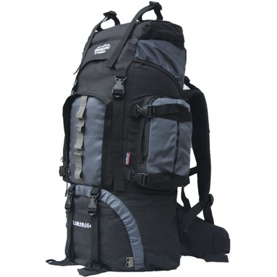 Waterproof Outdoor Sports Travel Mountaineering Backpack - Gray (60L)
