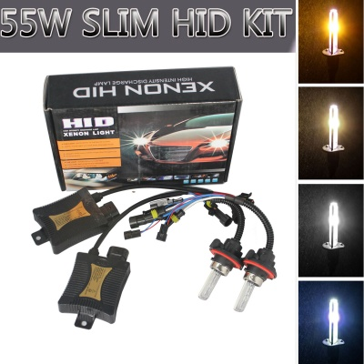 H13 55W 3200lm 7500K HID Xenon Lamps w/ Ballasts Kit (Pair)