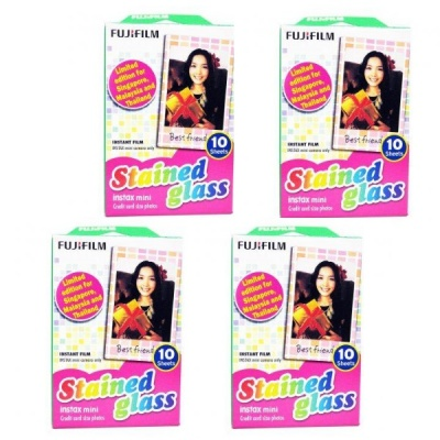 Fujifilm Instax Mini Instant Stained Glass Film 4 * 10 PCS
