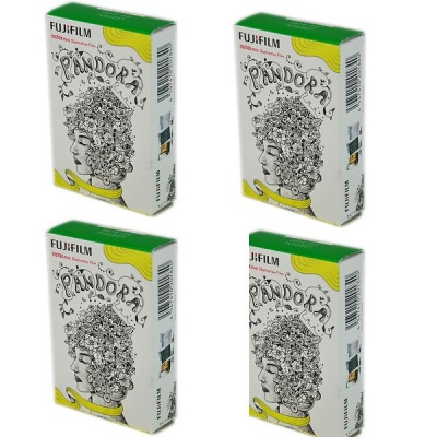 Genuine Fujifilm Instax Mini Instant Pandora Film, 10 Sheets x 4 Box (Special Offer)