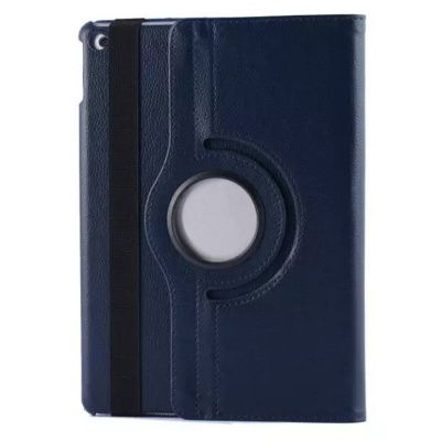 360' Rotating Stand Protective PU Leather Case Cover w/ Auto Sleep for IPAD AIR 2 - Deep Blue